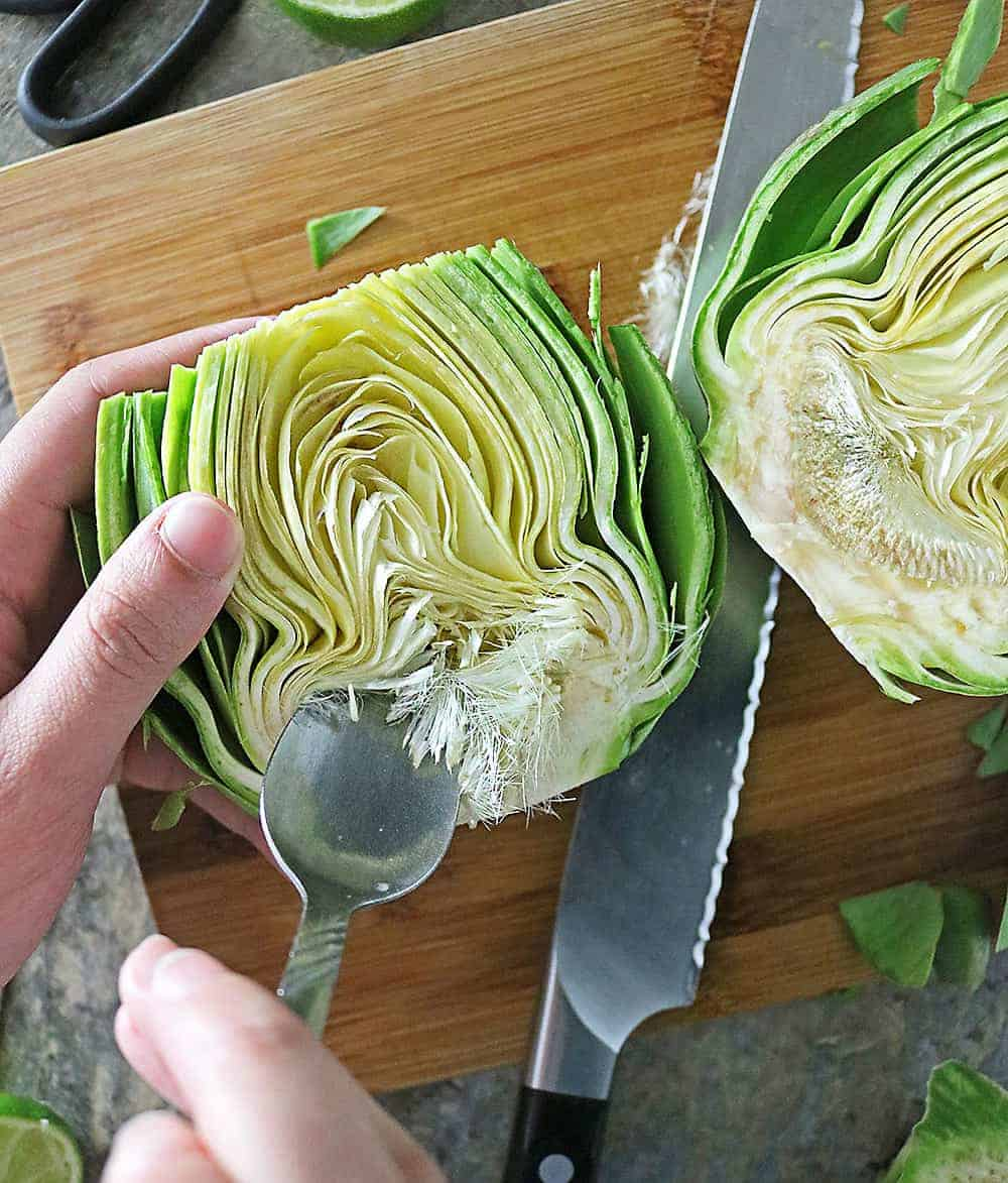 Photo of Removing Artichoke Choke