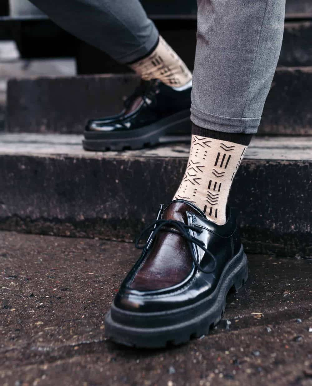 socks inspired by the african mudcloth socks for men