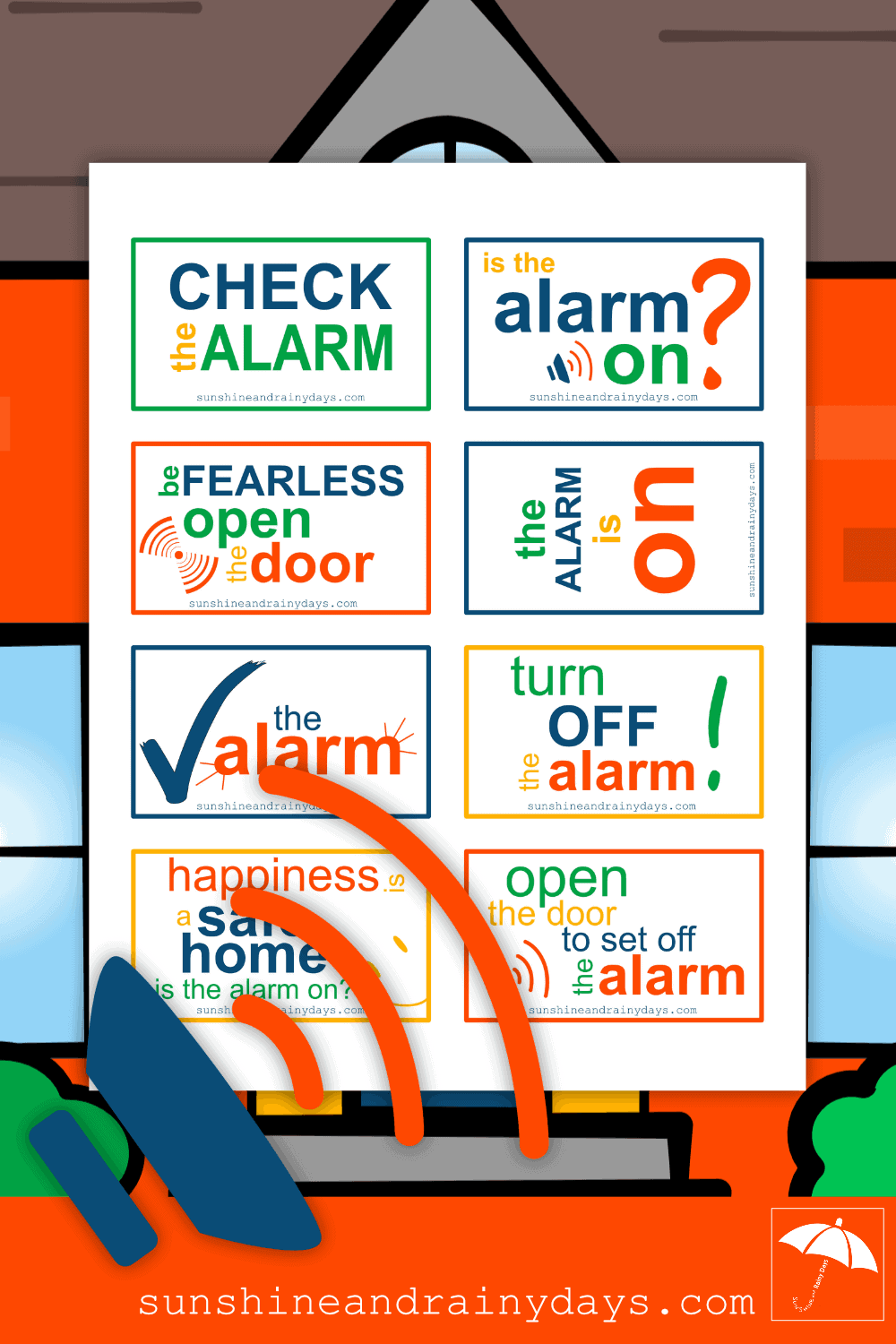 The Alarm Is On Signs