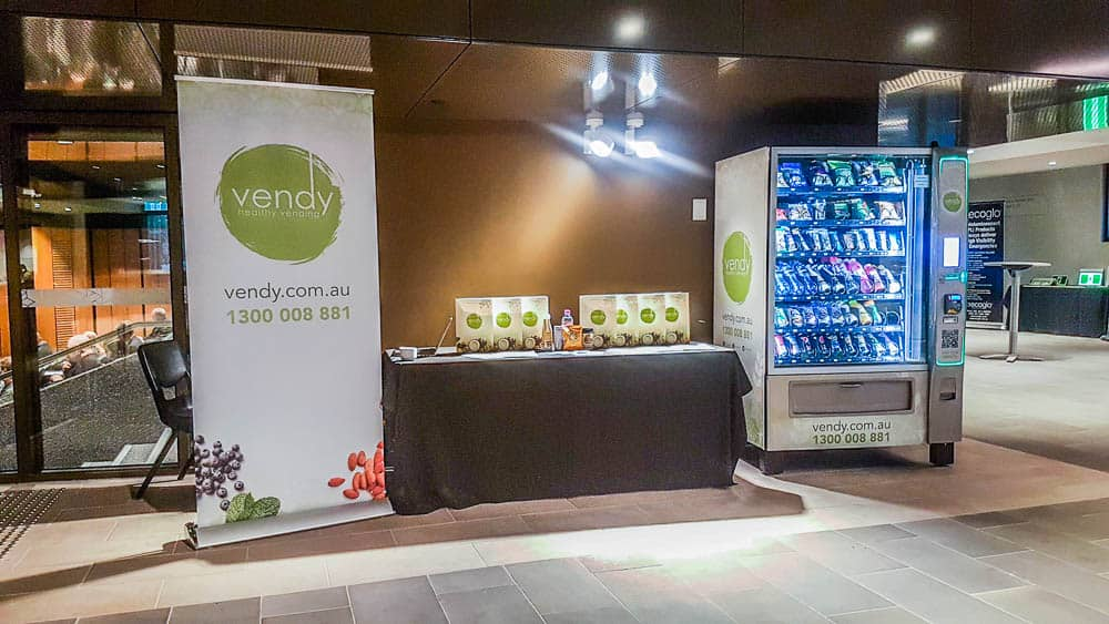 Vendy Machine and info table