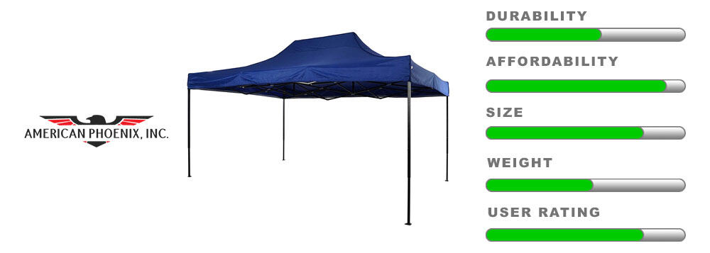 american phoenix 10x15 canopy large detailing tent