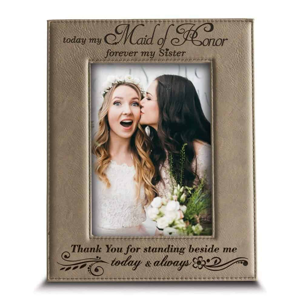 sister maid of honor gift picture frame