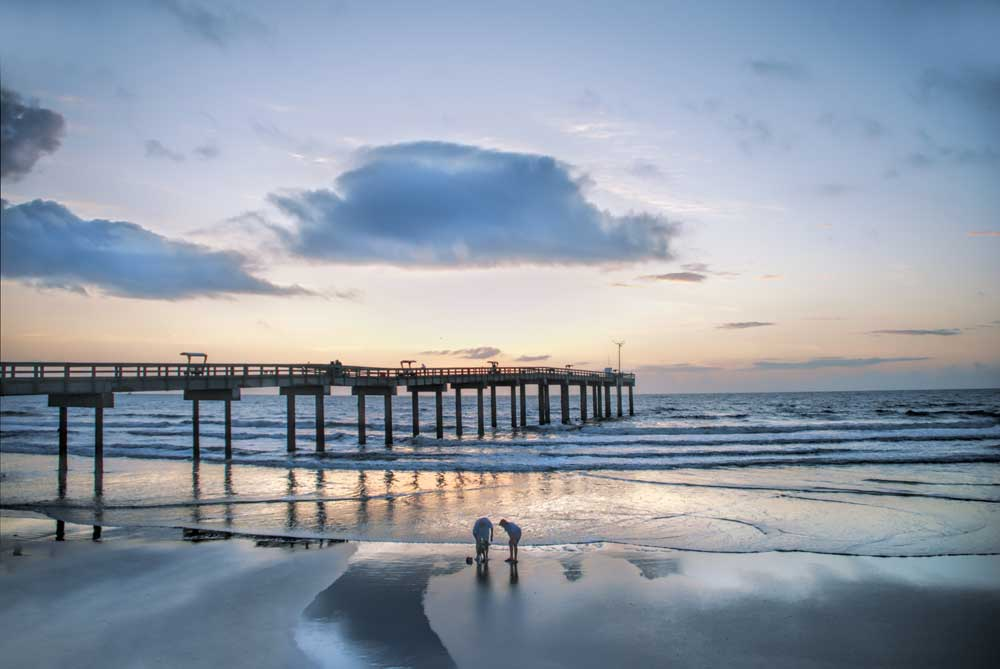 beach pier sunrise CVB 10 things to do in St. Augustine for nature & history lovers
