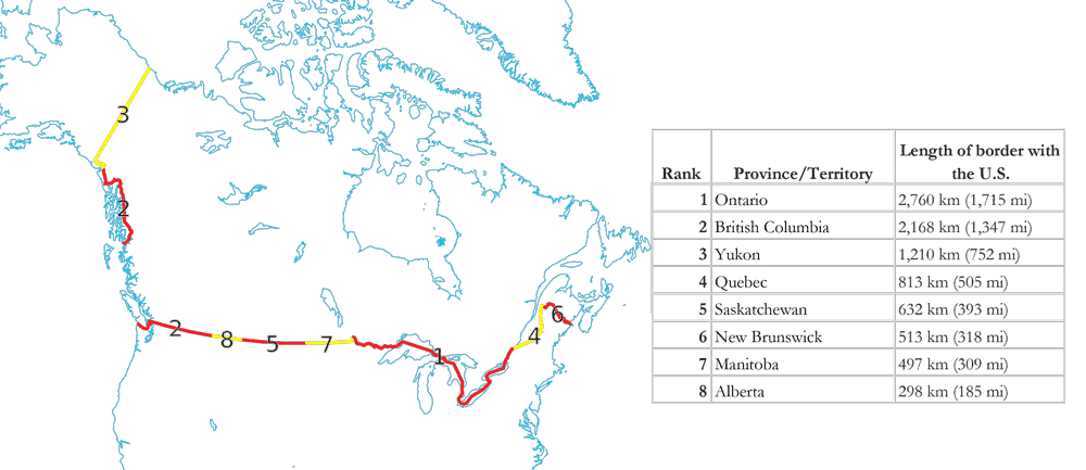 Interesting Geography Facts About the US-Canada Border ...