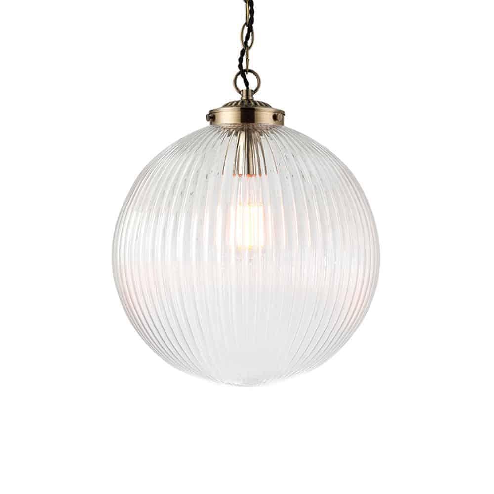 Endon 71124 Brydon 1 Light Antique Brass Ceiling Pendant
