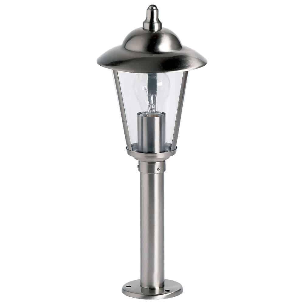Endon YG-863-SS Klien IP44 1 Light Stainless Steel Small Post Lamp