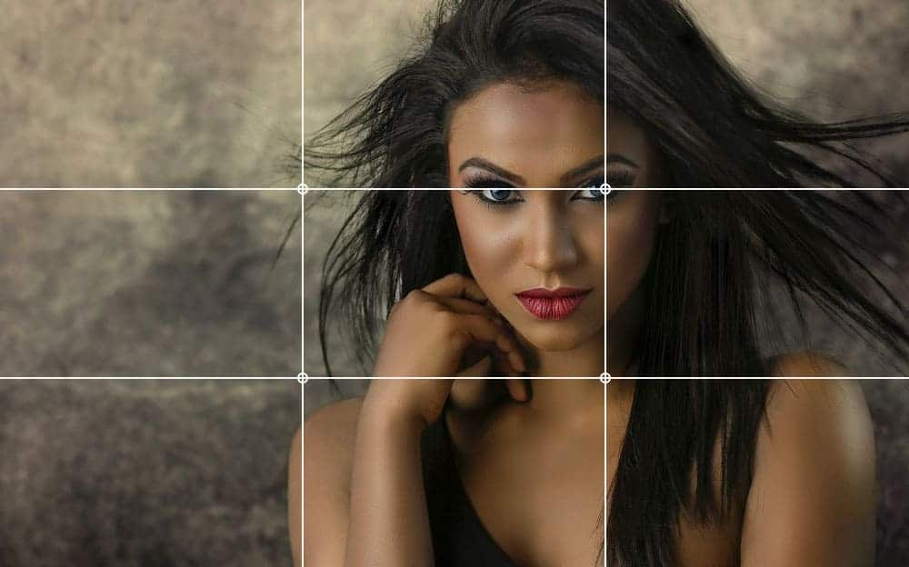 rule of thirds in photo of a girl