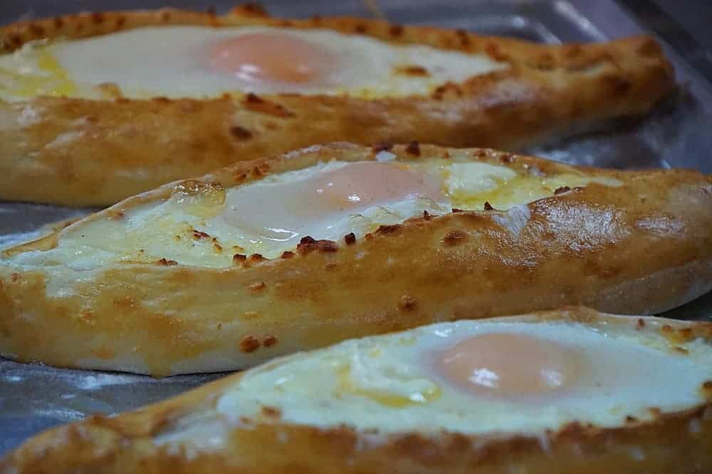 Georgian Cheese and Egg Bread Ajarian Khachapuri