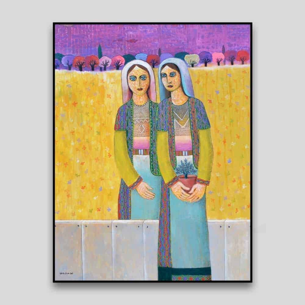 Sisters by Nabil Anani - Canvas