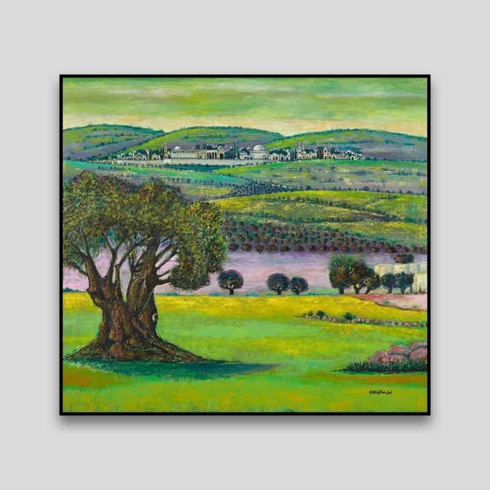 Jerusalem Landscape by Nabil Anani - Canvas