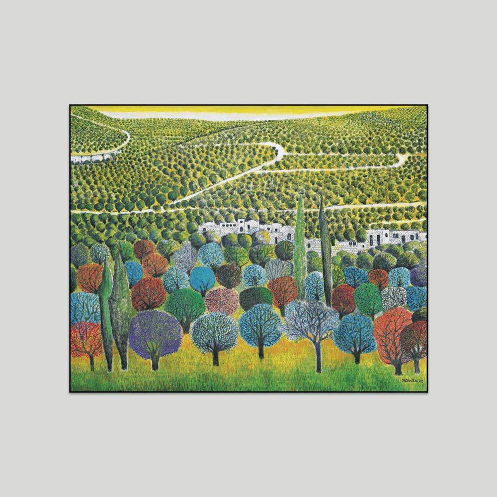 Deir Istya Landscape canvas print Nabil Anani
