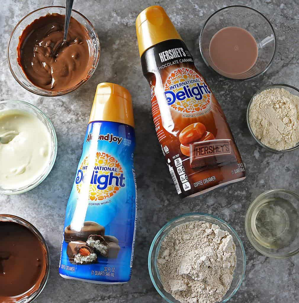 International Delight Creamers in Chocolate Caramel Bites with other Ingredients
