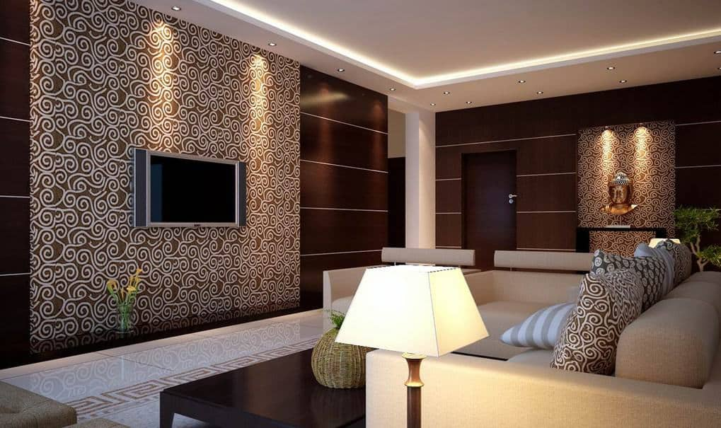Wallpaper for living room with best lighting