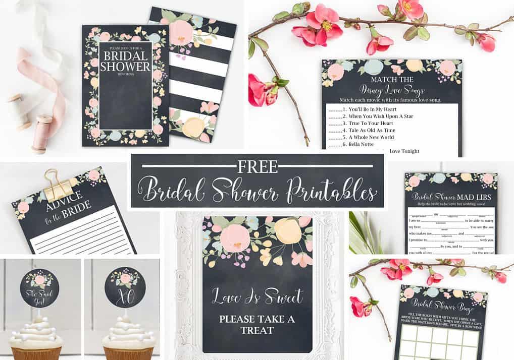Free Bridal Shower Printables Part A