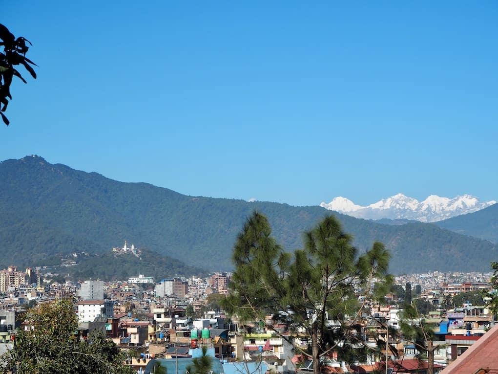 Blick von unserer Terrasse südlich von Kathmandu