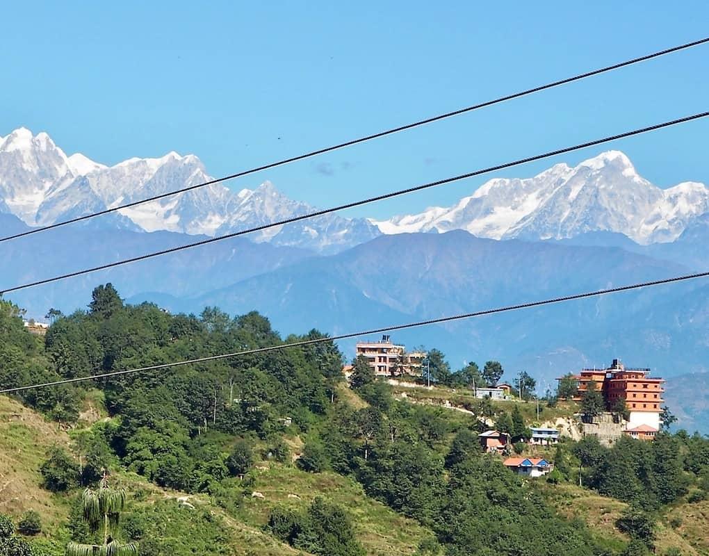Bergblick in Nagarkot