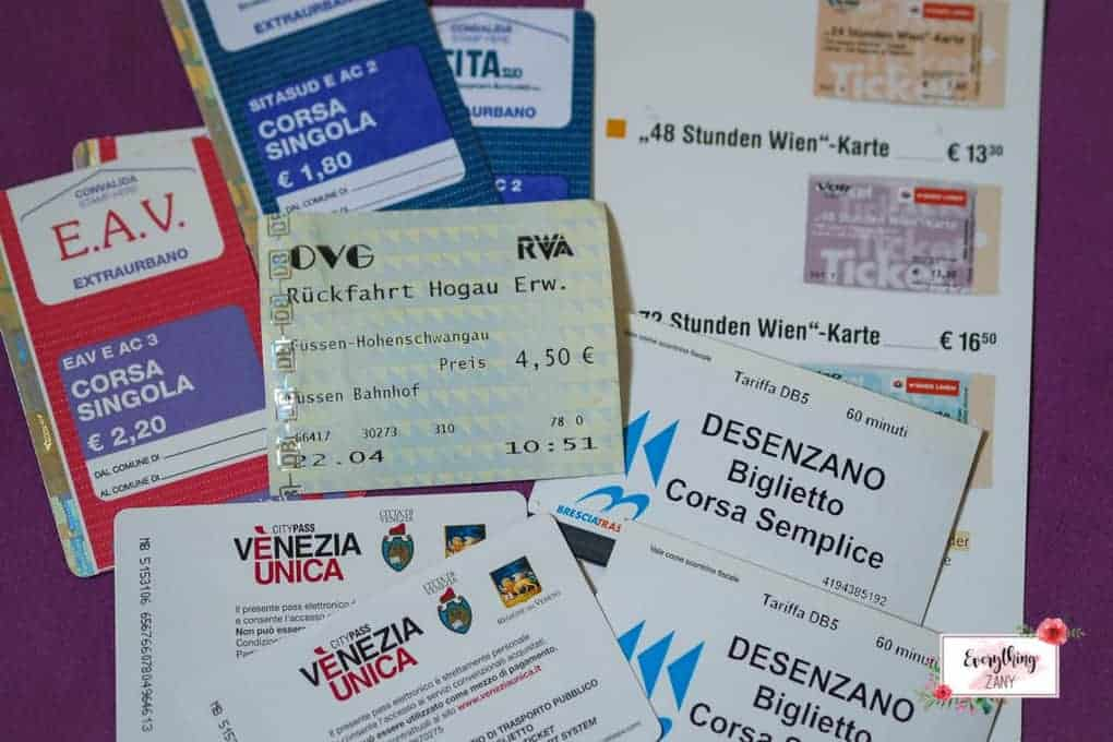 Local Train Tickets in Europe