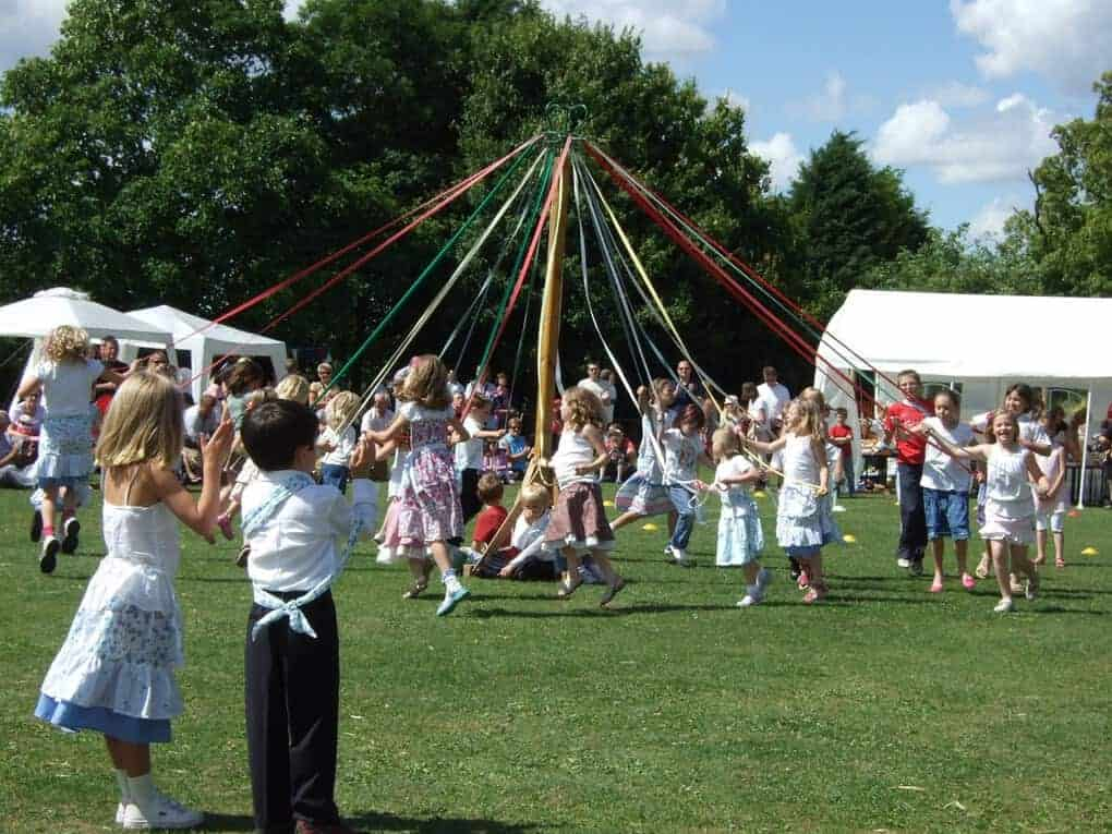 British Maypole Dancing
