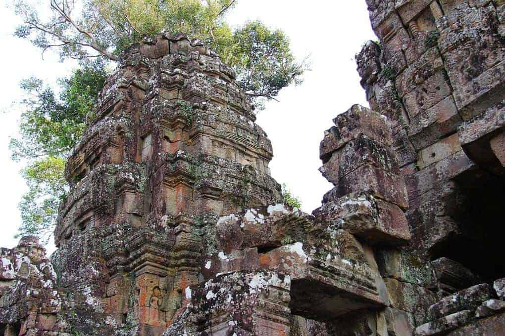 Preah Khan temple in Angkor Siem Reap