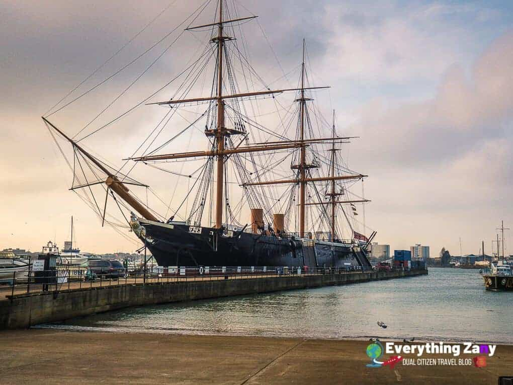 HMS Warrior at the Portsmouth Historic Dockyard