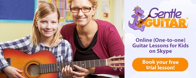 Free Trial of online guitar lessons for kids