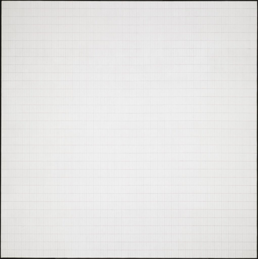 Monochrome art. Agnes Martin, Morning.