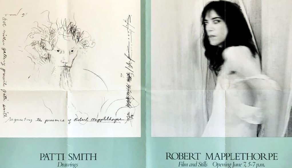 Patti Smith & Robert Mapplethorpe exhibition poster, 1978