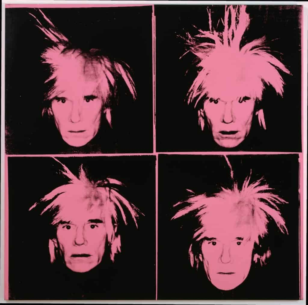 Andy Warhol, Self Portrait With Fright Wig, 1986