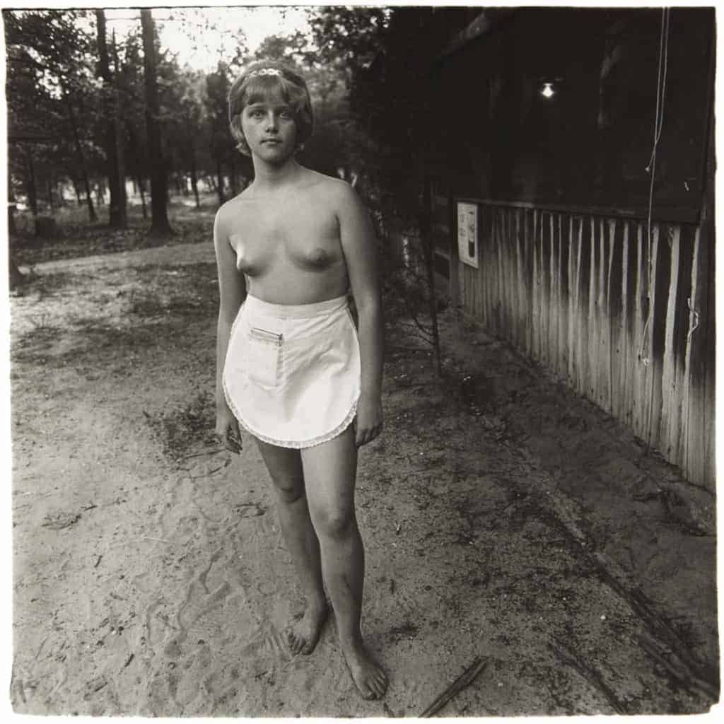 Diane Arbus, Waitress, Nudist Camp N.J., 1963