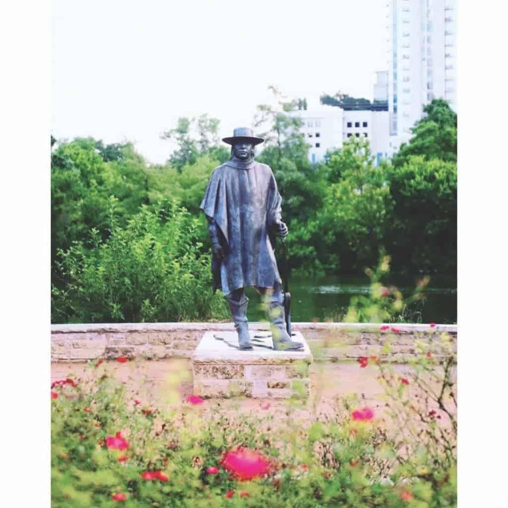 Stevie Ray Vaughan Statue.