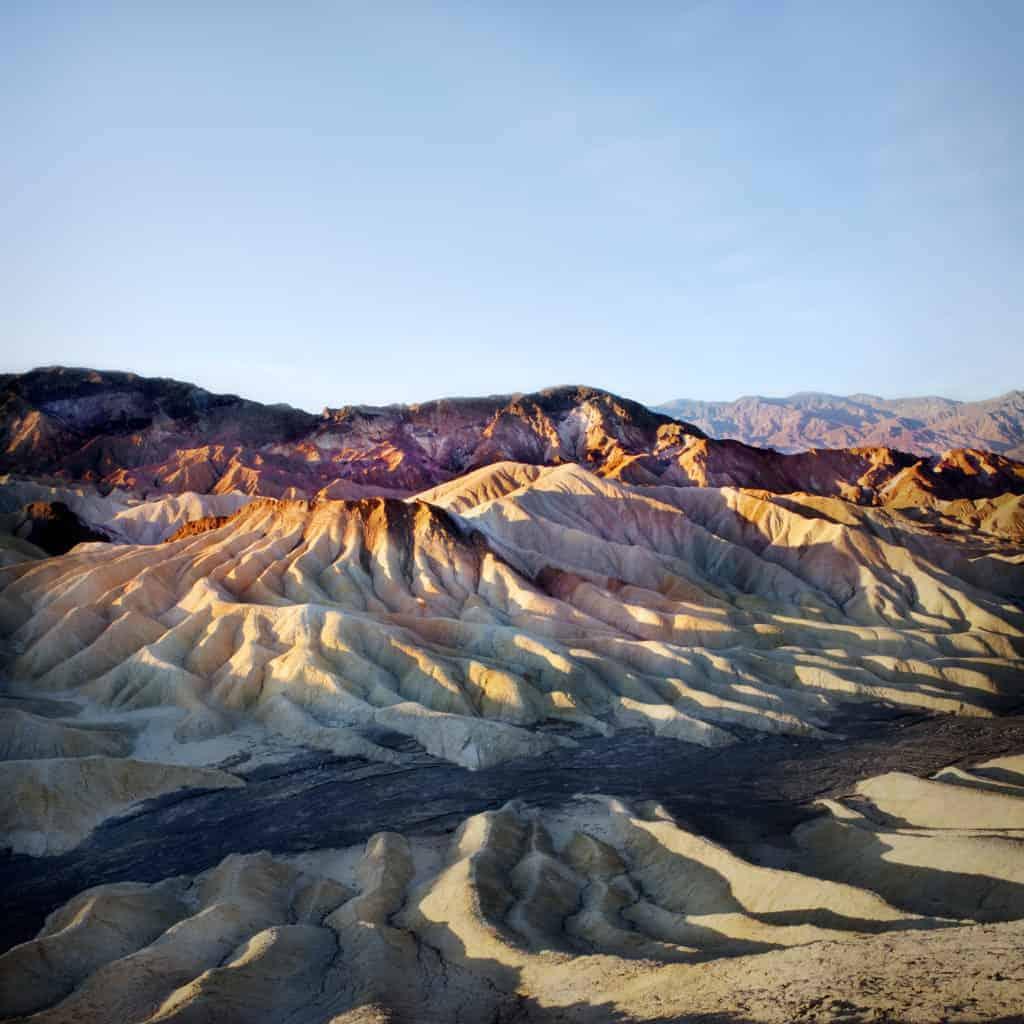 Zabriskie Point in Death Valley National Park.
