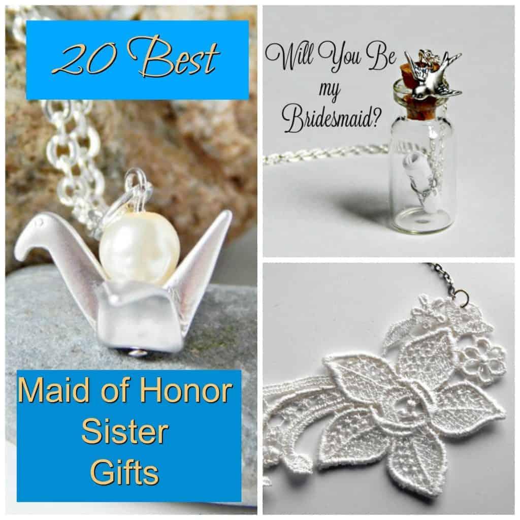 maid of honor sister bridesmaid gifts