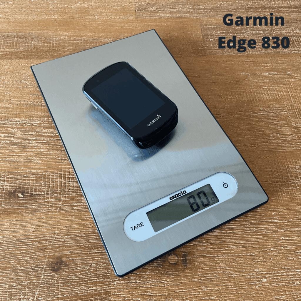 Gewicht Garmin Edge 830