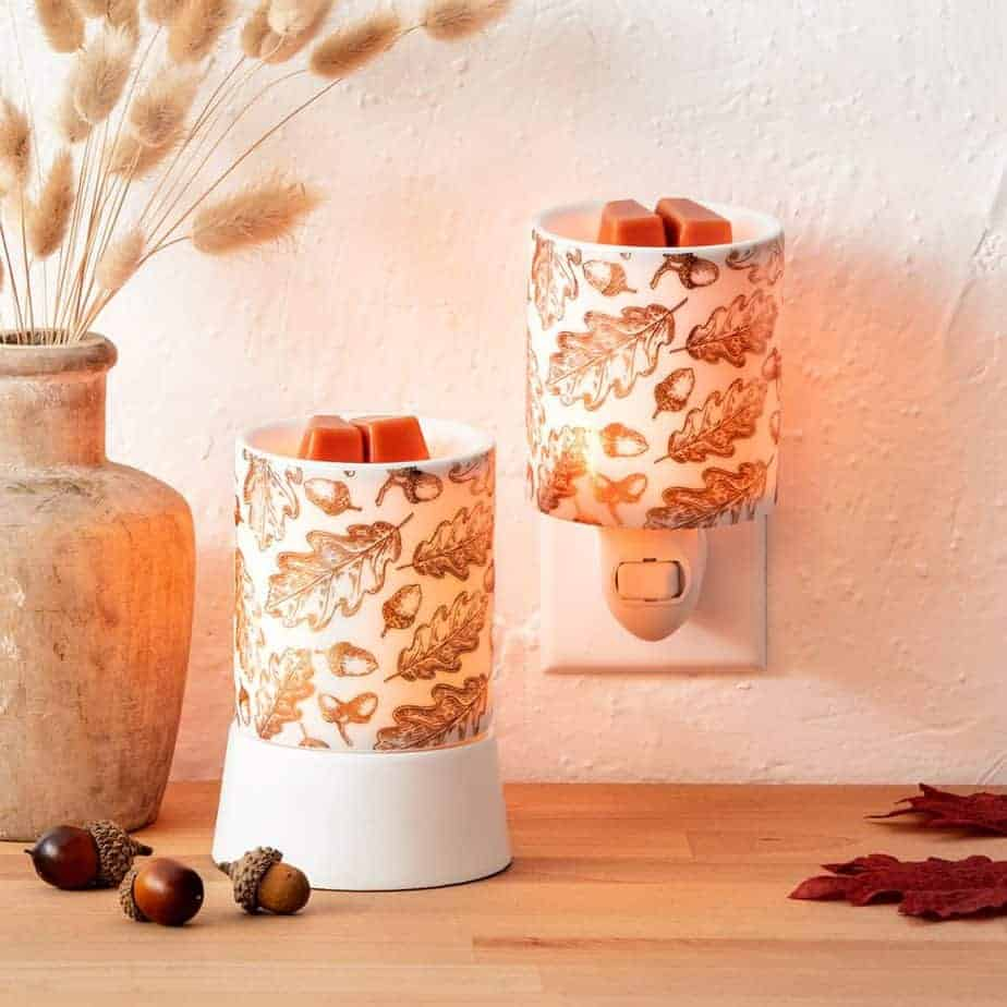 Fall Foliage Scentsy Mini Wax Warmer and Fall Foliage Scentsy Tabletop Wax Warmer