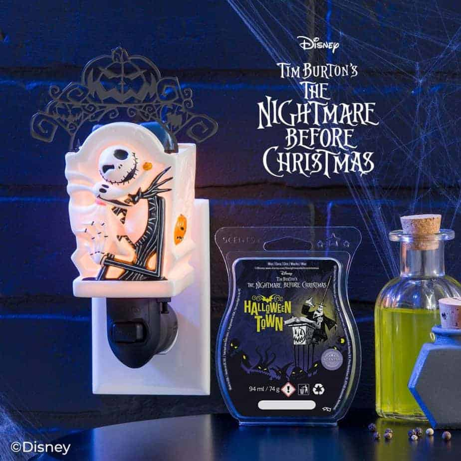 Jack Skellington Mini Scentsy Warmer and Halloween Town Scentsy Wax Bar