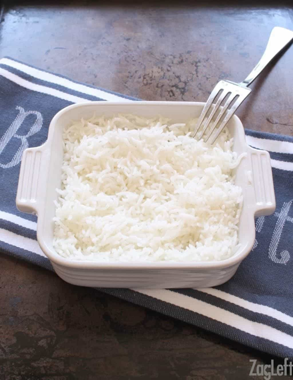 How To Bake A Single Serving of Rice | www.onedishkitchen.com