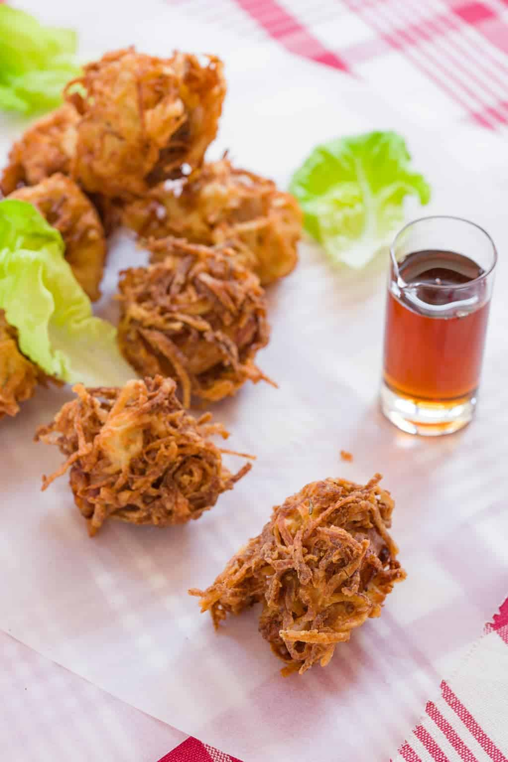 Buttermilk brined fried chicken coated in a crispy shell of hashbrowns!
