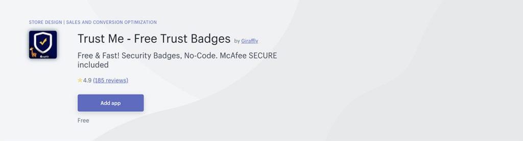 Trust Me ‑ Free Trust Badges