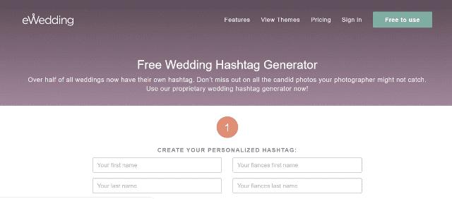 eWedding Wedding Hashtag Generator