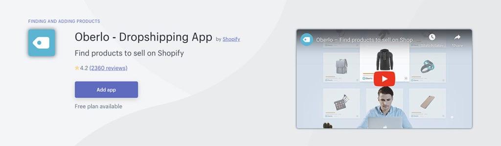 Oberlo ‑ Dropshipping App