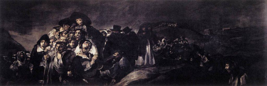 Francisco Goya, A Pilgrimage to San Isidro (1820-23) Oil on plaster mounted on canvas