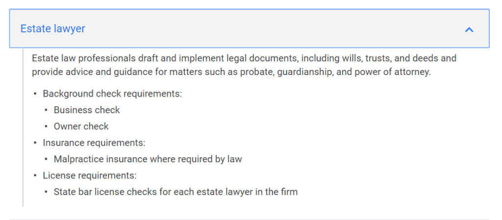 Google Local Services Ads Eligibility for Estate Lawyers