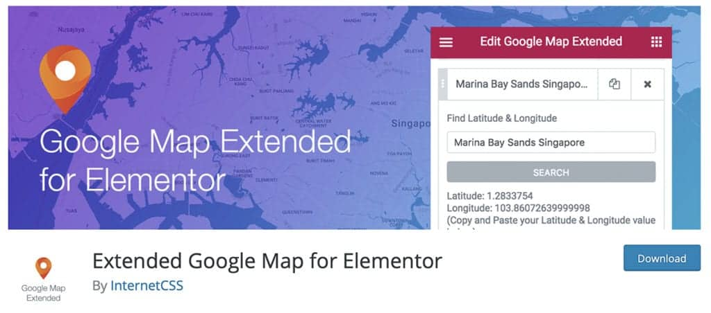 Extended Google Map for Elementor