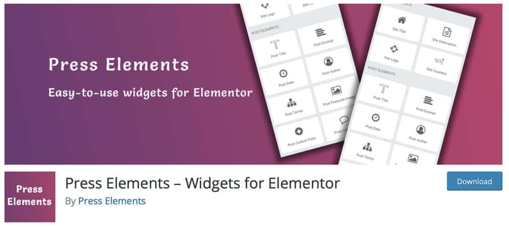 Press Elements – Widgets for Elementor
