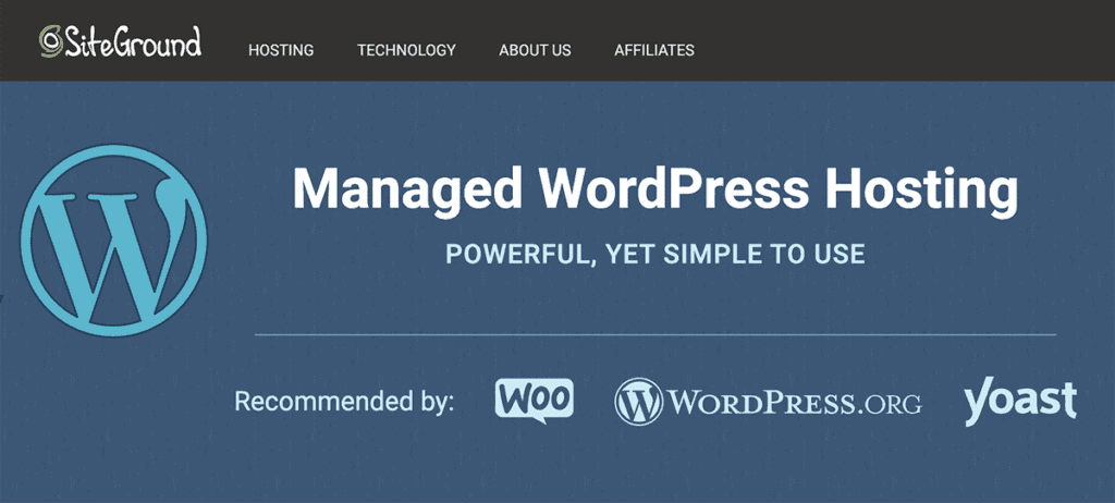 SiteGround fully managed WordPress hosting