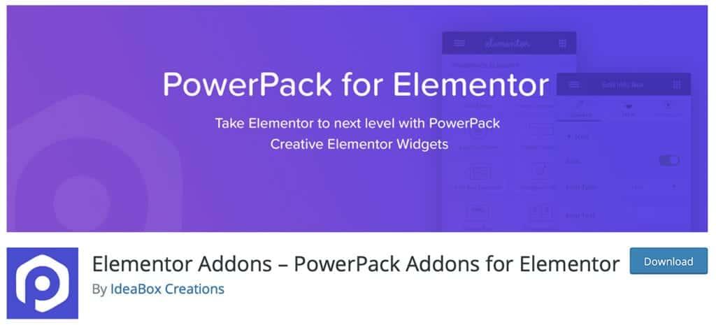 Elementor Addons – PowerPack Addons for Elemento