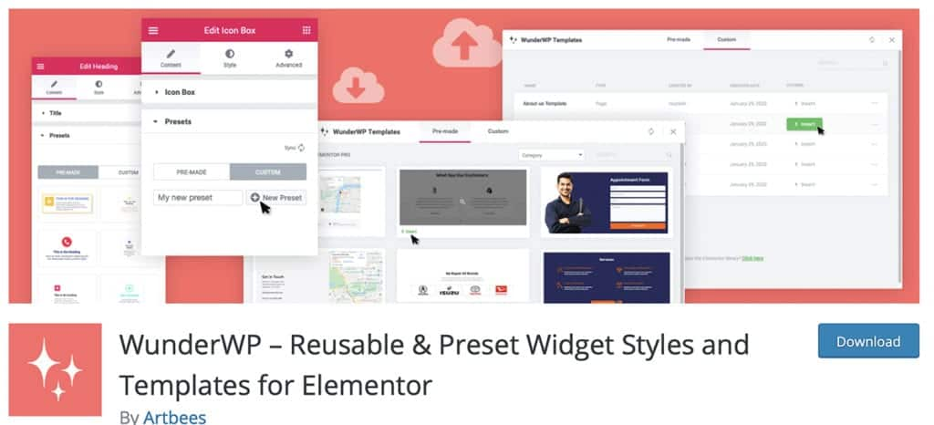 WunderWP – Reusable & Preset Widget Styles and Templates for Elementor
