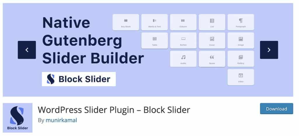 WordPress Slider Plugin – Block Slider