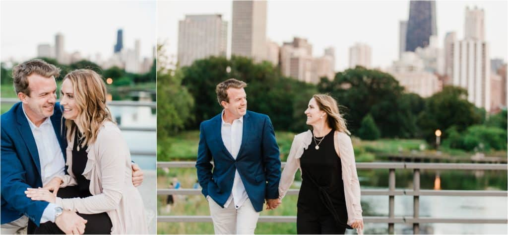 City view Chciago engagement session in Lincoln Park