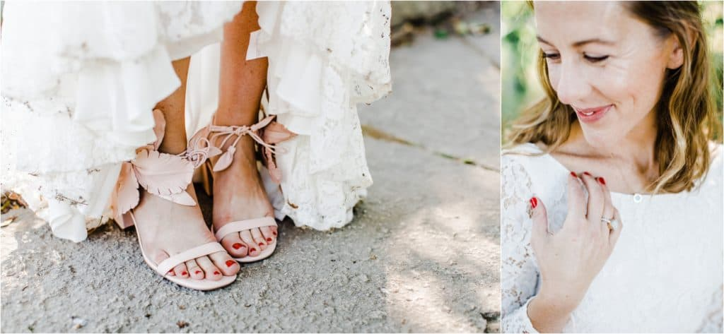 bridal shoes ideas, wedding shoes inspiration, Best Chicago wedding photographer, bridal details inspiration, boho wedding shoes, Chicago elopement photographer,